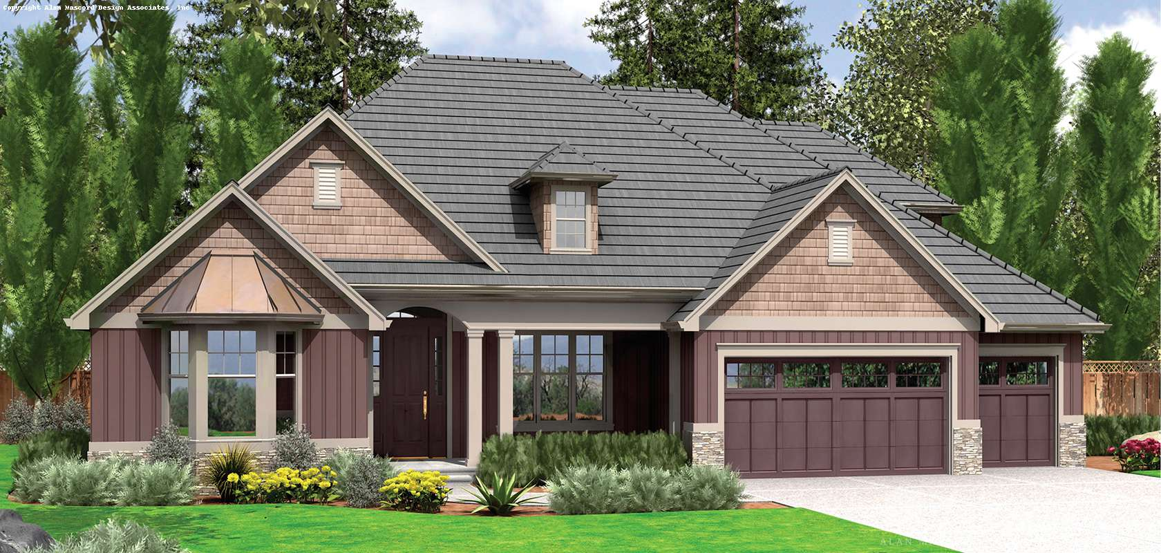 Mascord House Plan B22157A: The Ravenwood
