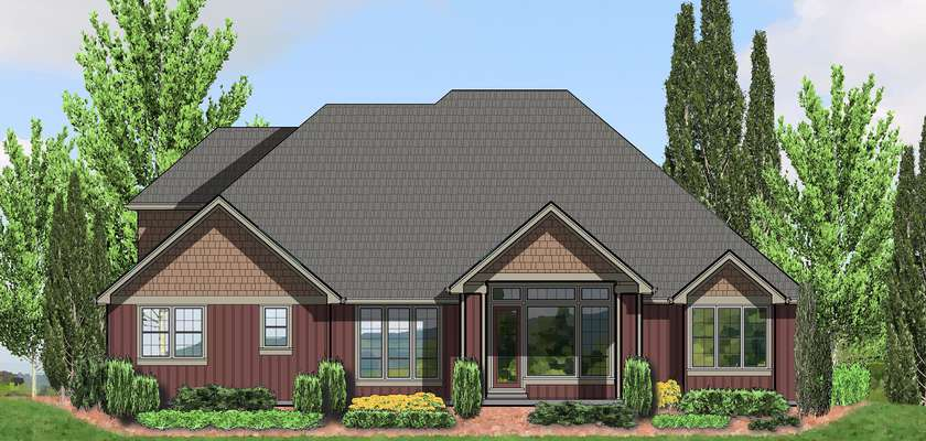 Mascord House Plan 22157A: The Ravenwood