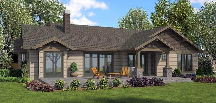 Mascord House Plan 22157BA: The Loyston
