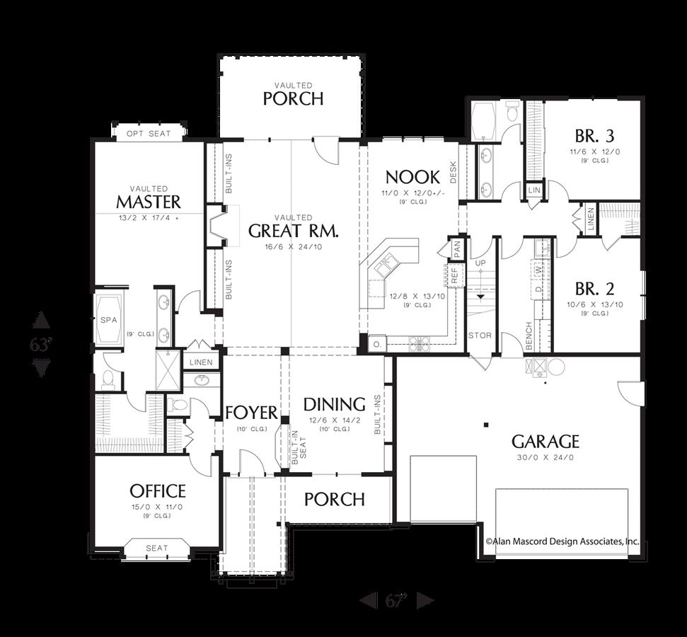 Mascord House Plan 22157 The Alton