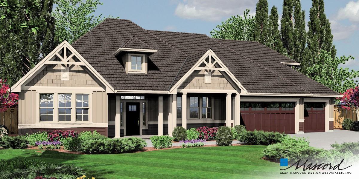Mascord house plan 22158a the jasper for Mascord house plans