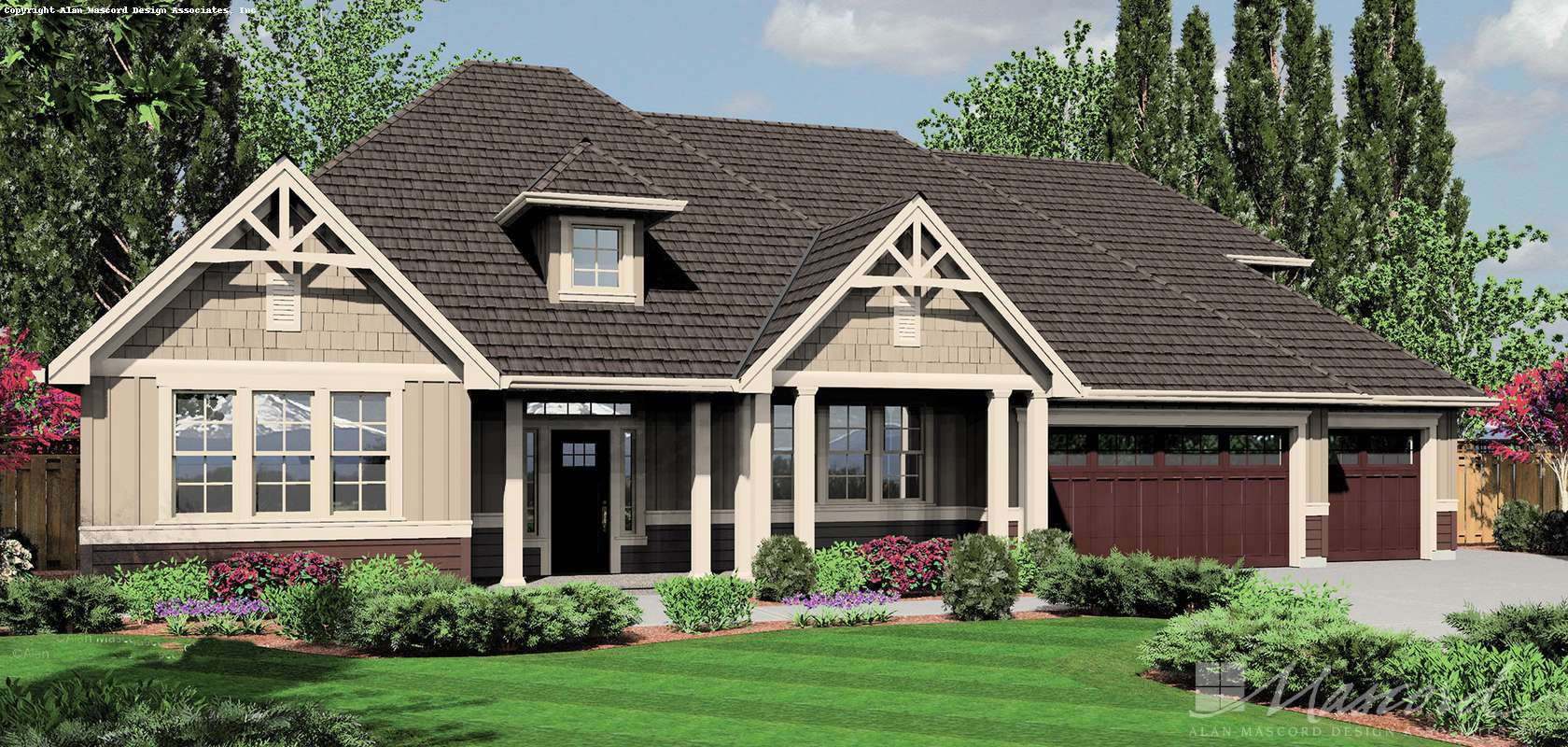 Mascord House Plan 22158A: The Jasper
