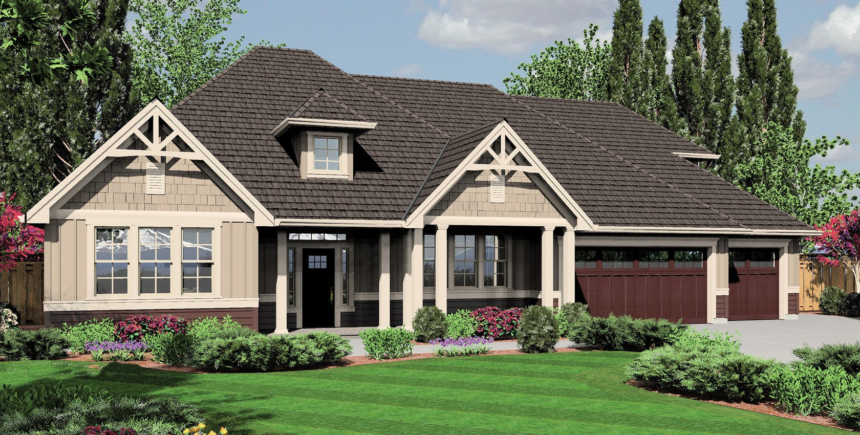 Mascord house plan 22158a the jasper for Mascord plans
