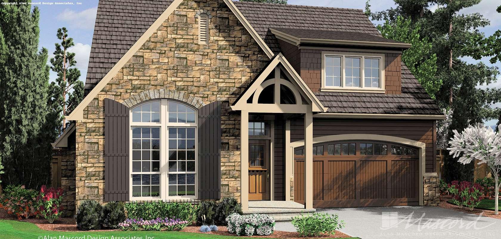 Mascord House Plan B22159A: The Caldwell