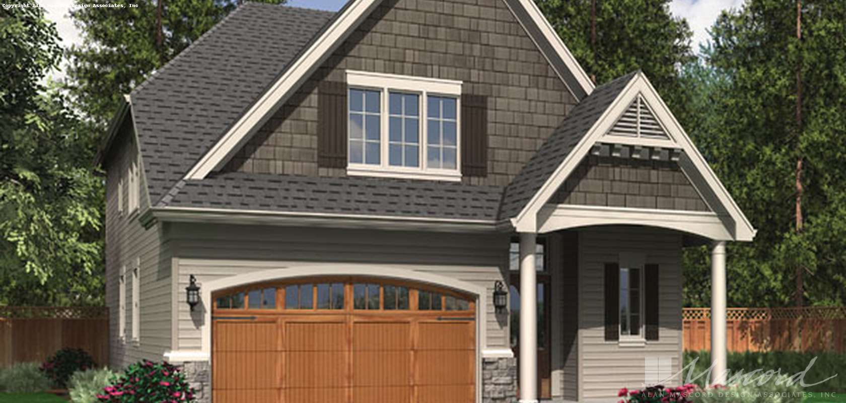 Mascord House Plan 22162A: The Bloomsdale
