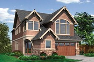 Front Rendering of Mascord House Plan 22163 - The Penrod
