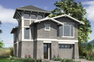 Front Rendering of Mascord House Plan 22165 - The Parkridge