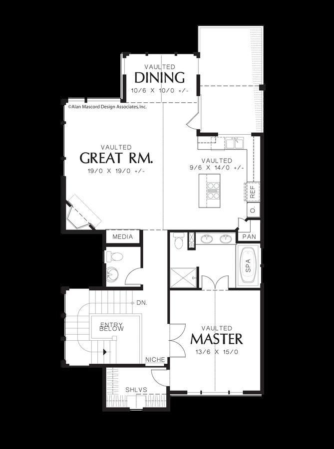 Coastal house plan 22165 the parkridge 2044 sqft 3 bedrooms 21 image for parkridge view grabbing narrow lot design main floor plan malvernweather Image collections