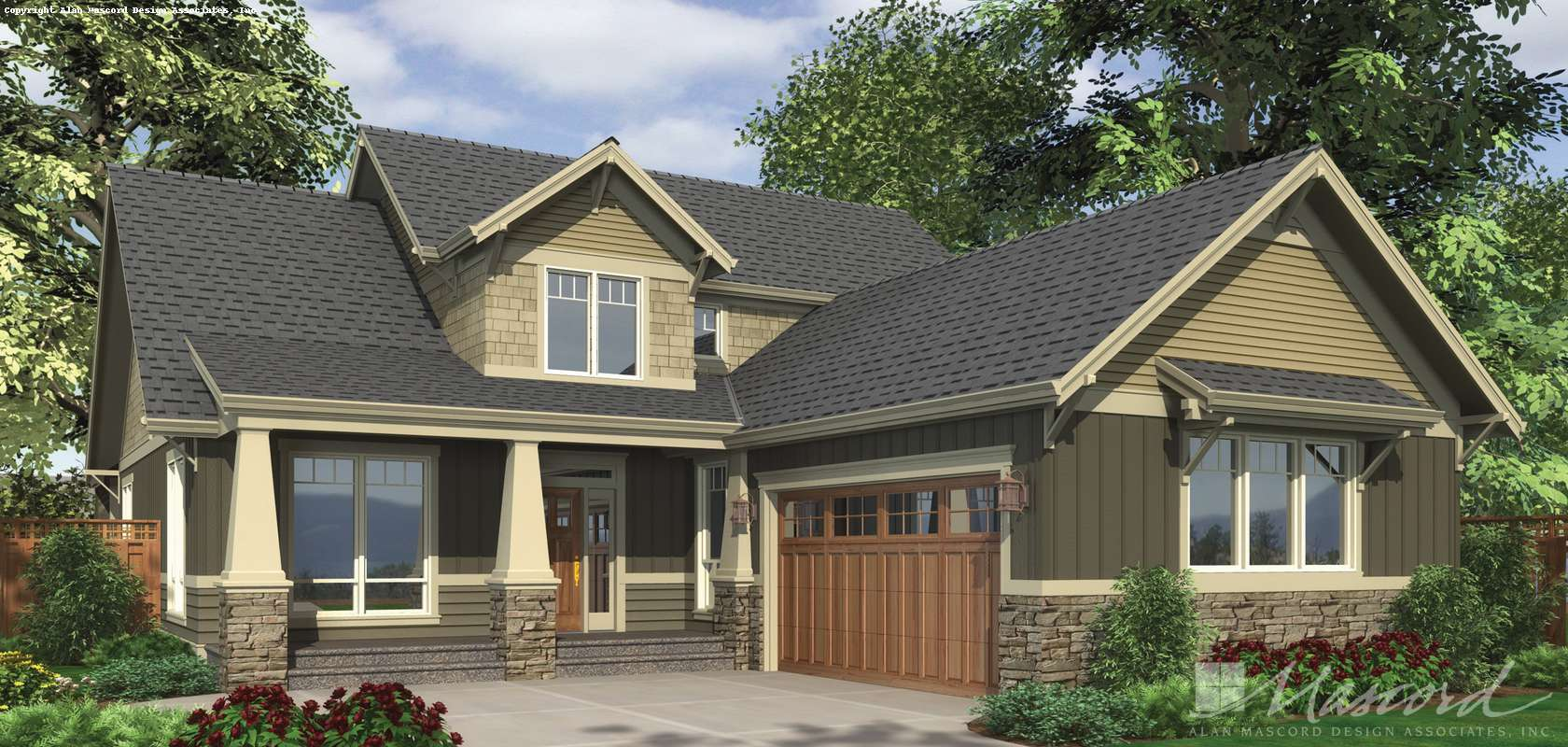 Mascord House Plan B22166: The Tanglewood