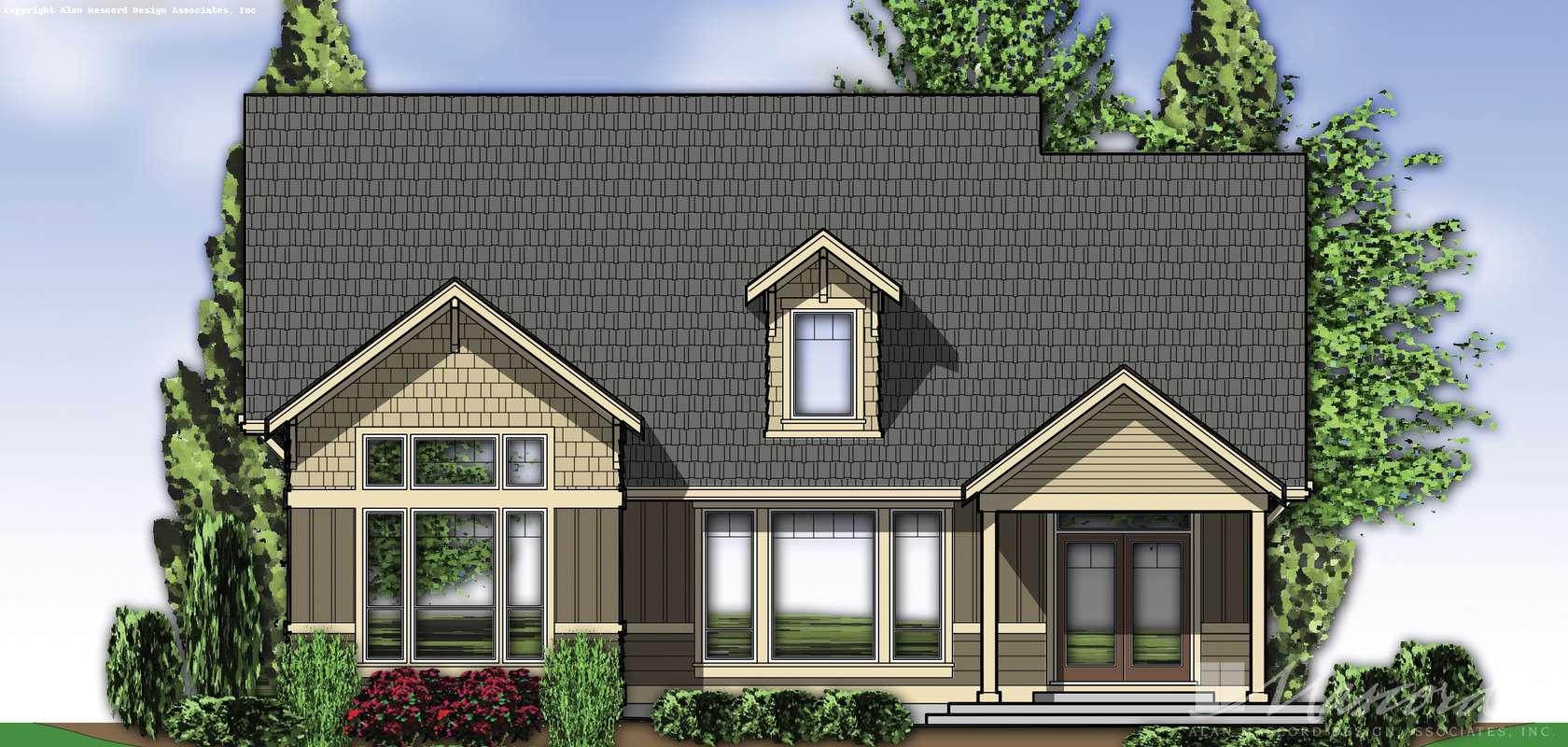 Mascord House Plan 22166: The Tanglewood