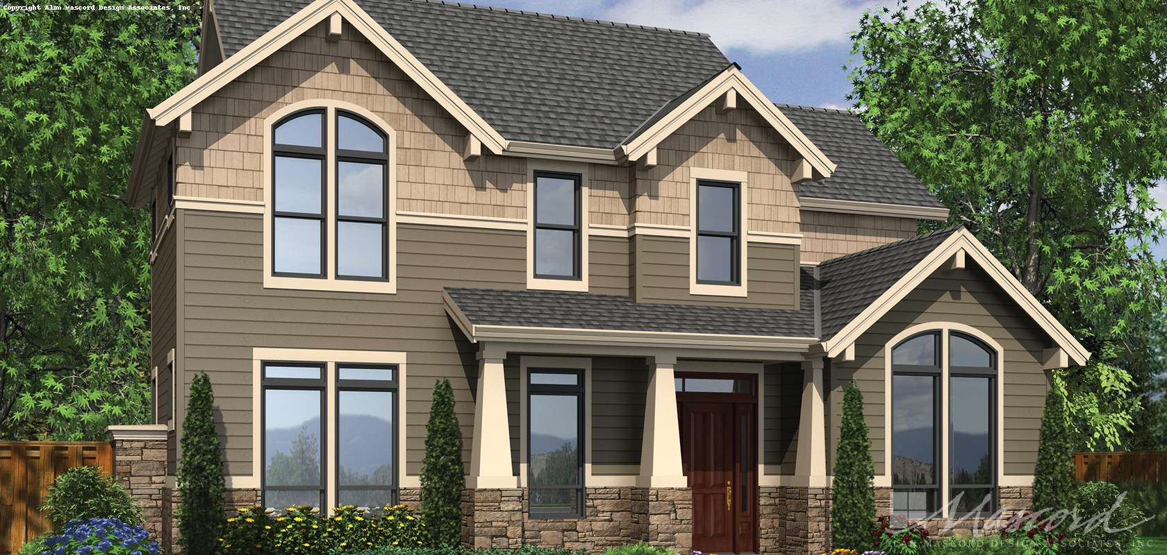 Mascord House Plan 22170: The Mayfield