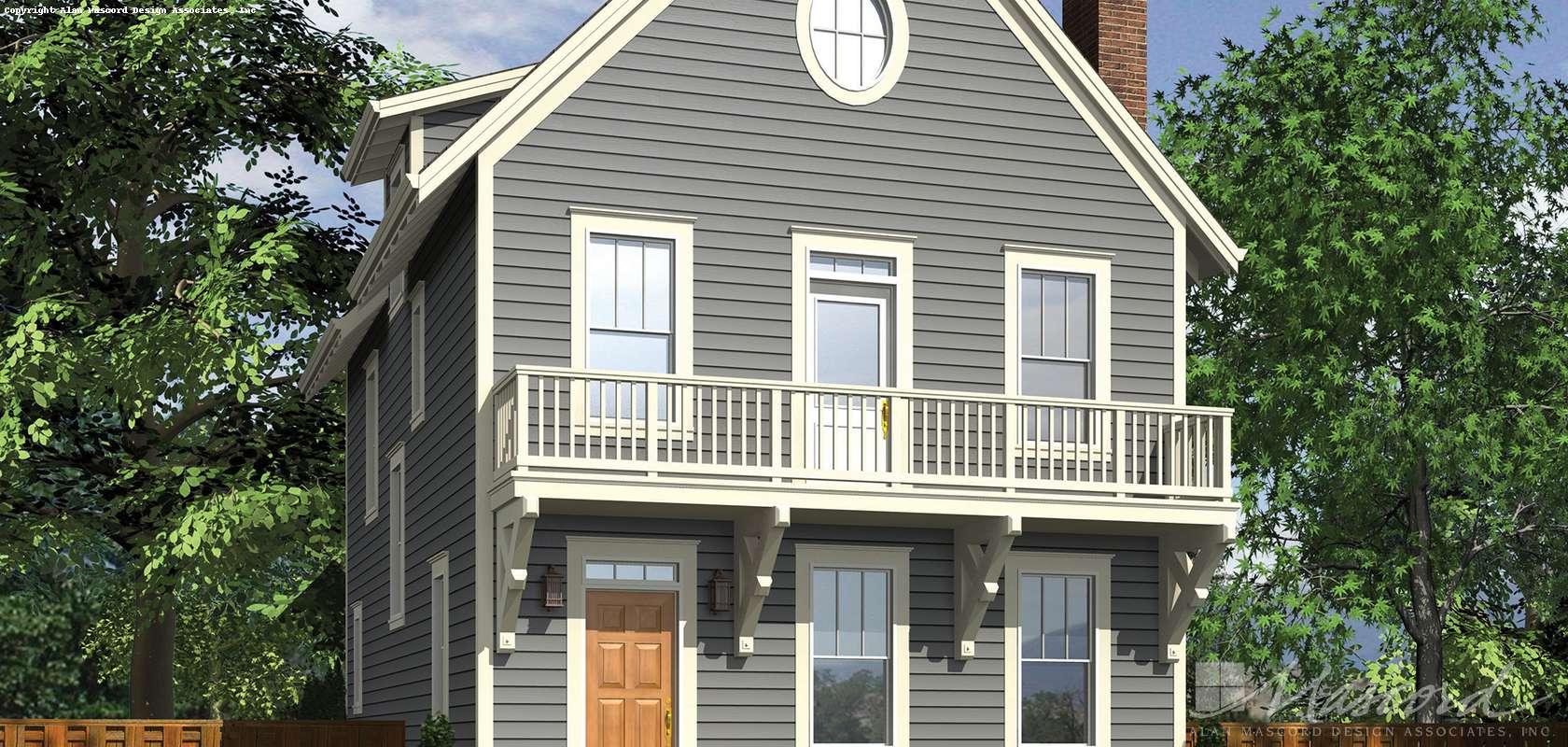 Mascord House Plan 22171A: The Eaton