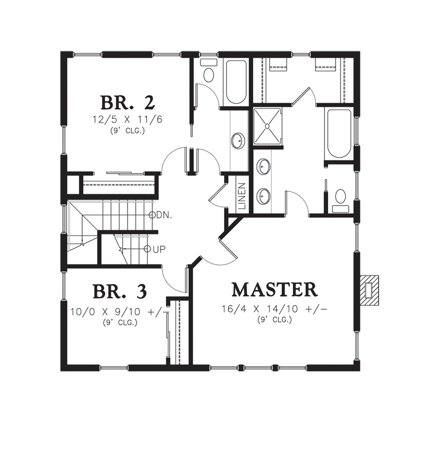 Mascord House Plan 22172c The Carrington