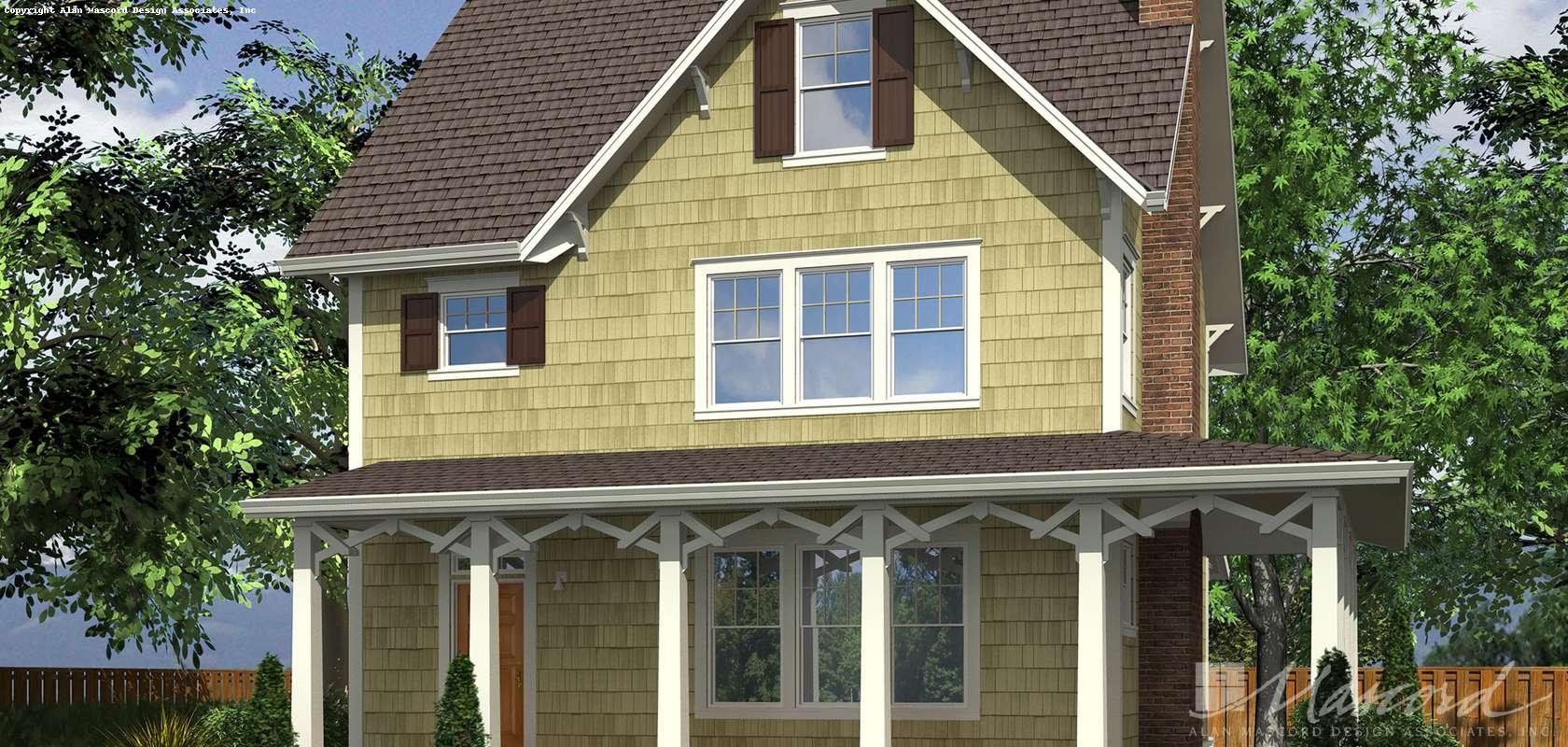Mascord House Plan 22172C: The Carrington