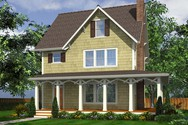 Front Rendering of Mascord House Plan 22172C - The Carrington