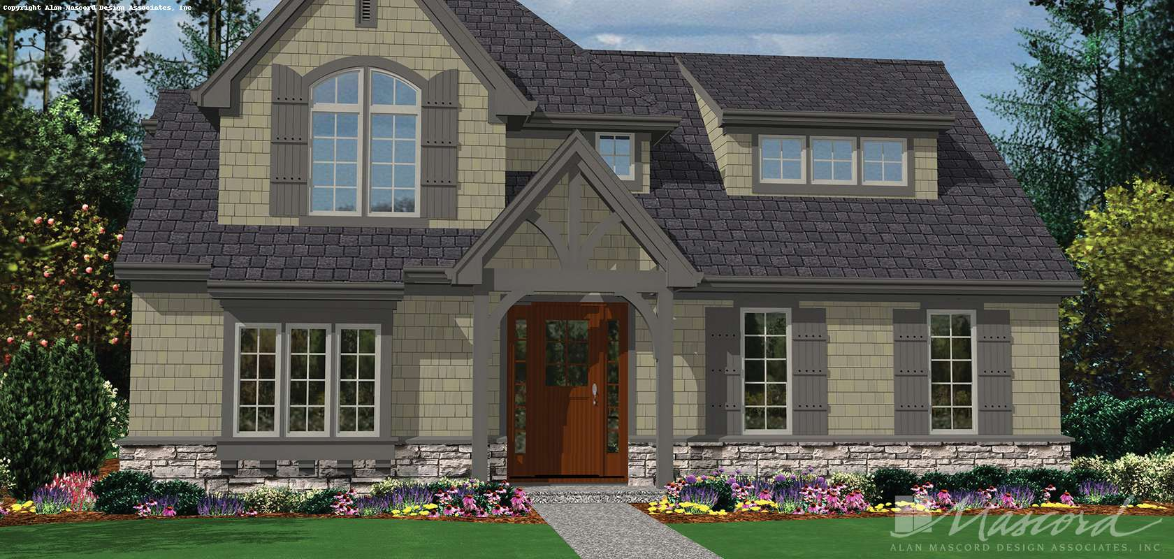 Mascord House Plan B22176: The Davis