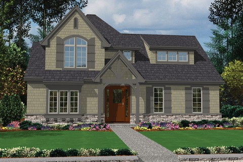 Mascord house plan 22176 the davis for Traditional neighborhood design house plans