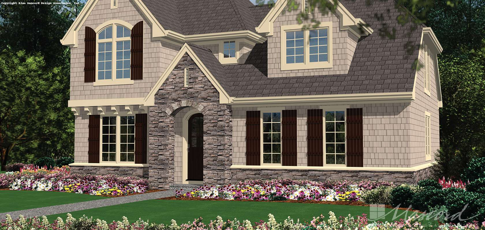 Mascord House Plan 22176A: The Jacksonville