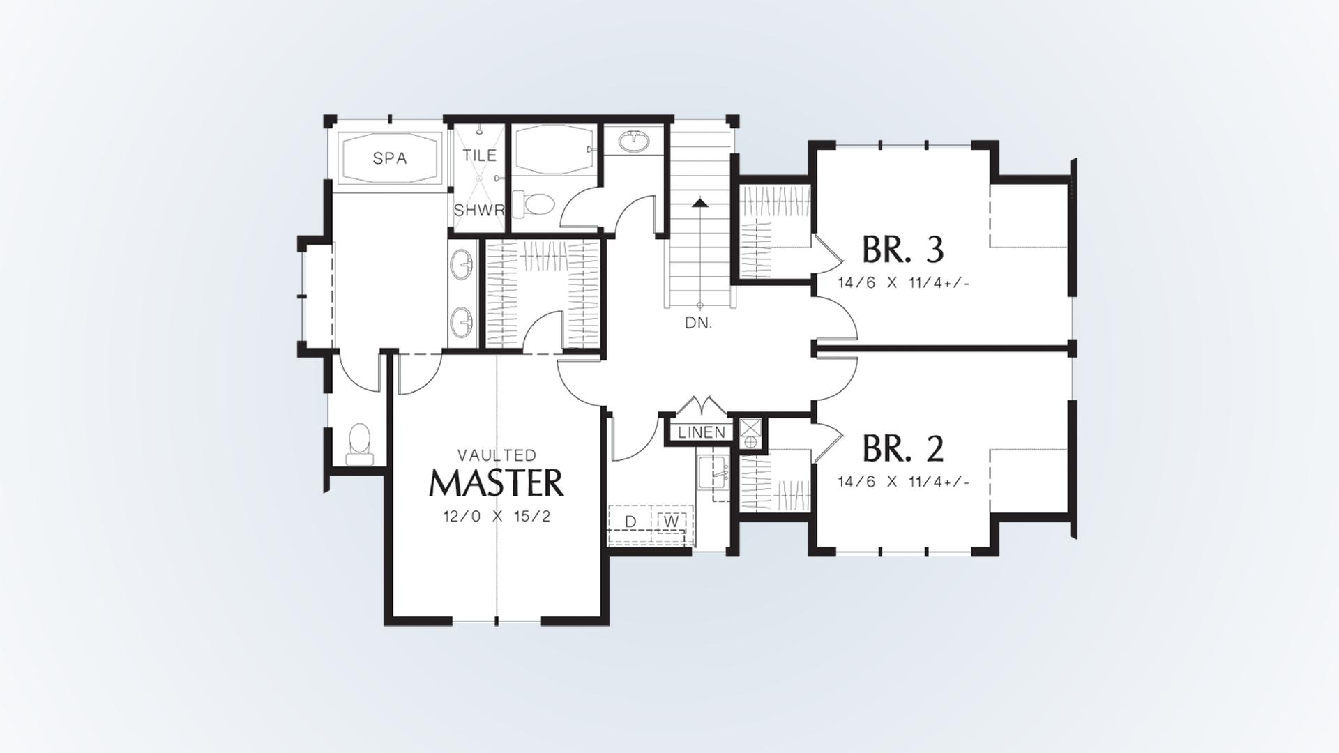 Mascord House Plan 22176 The Davis