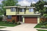 Front Rendering of Mascord House Plan 22180 - The Eadin