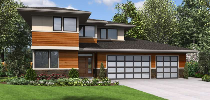 Mascord House Plan 22180B: The Waterbury