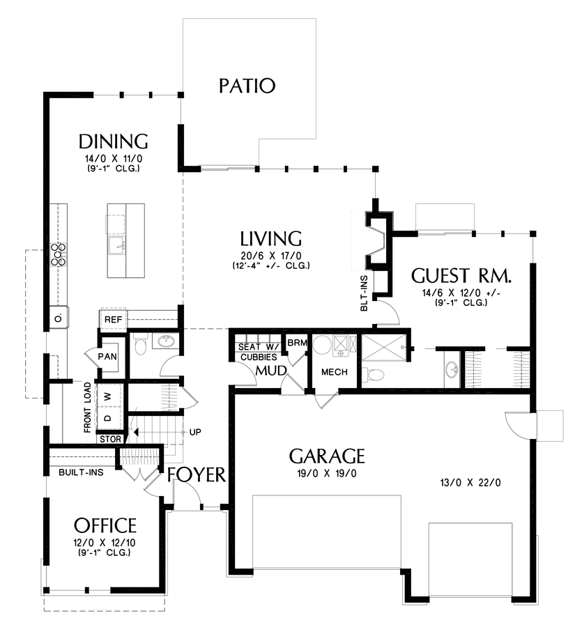 Image for Perry-Fantastic Flex Space behind Great Room Makes This a Home for Life-Main Floor Plan