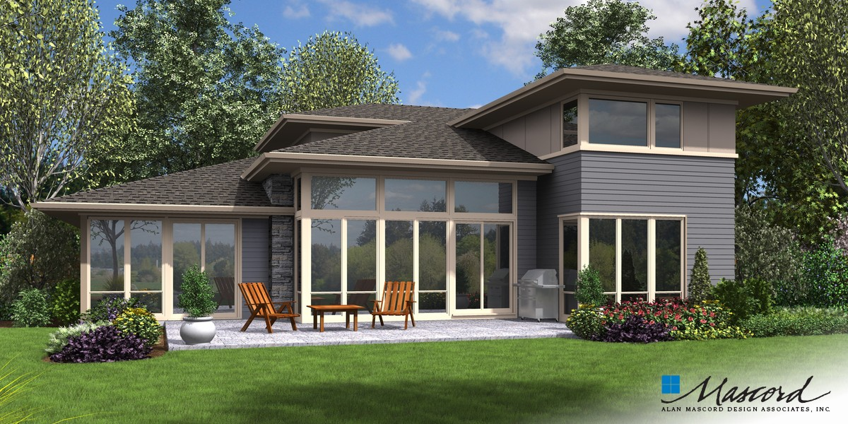 Image for Perry-Fantastic Flex Space behind Great Room Makes This a Home for Life-Rear Rendering