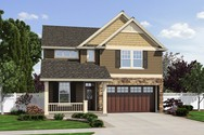 Front Rendering of Mascord House Plan 22184 - The Springwater