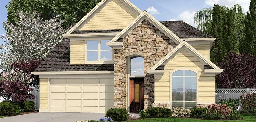 Mascord House Plan 22186: The Bradley