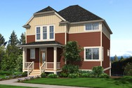 Front Rendering of Mascord House Plan 22187 - The Blackpool