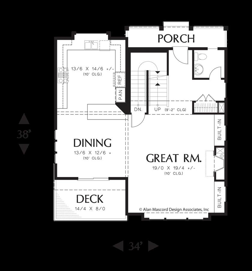 mascord house plan 22187a - the newcastle
