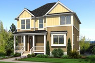 Front Rendering of Mascord House Plan 22187A - The Newcastle