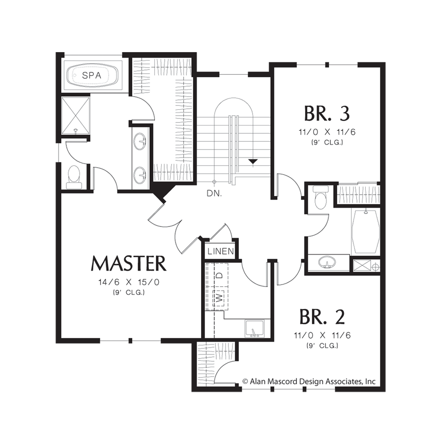 Mascord house plan 22187a the newcastle for Home designs newcastle