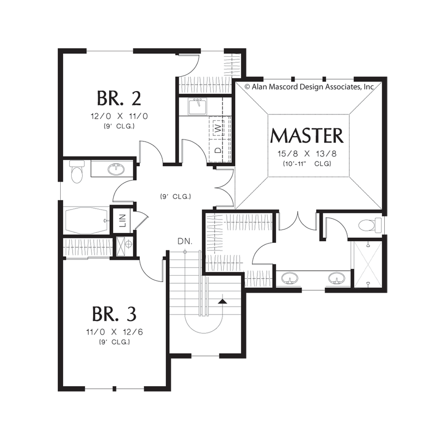 Mascord House Plan 22188a The Newbury