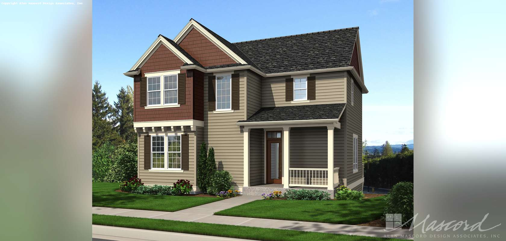 Mascord House Plan 22188A: The Newbury