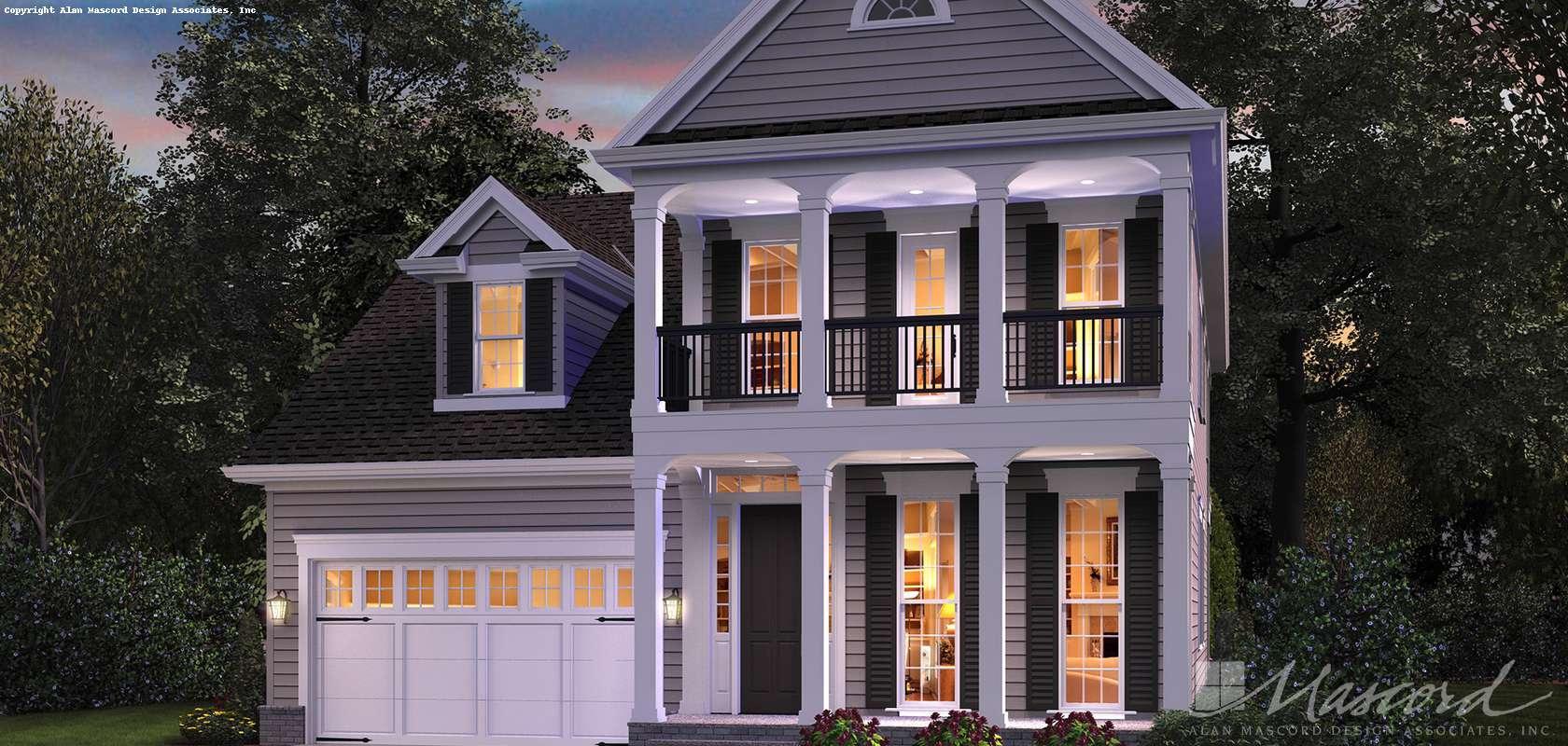 Mascord House Plan B22189: The
