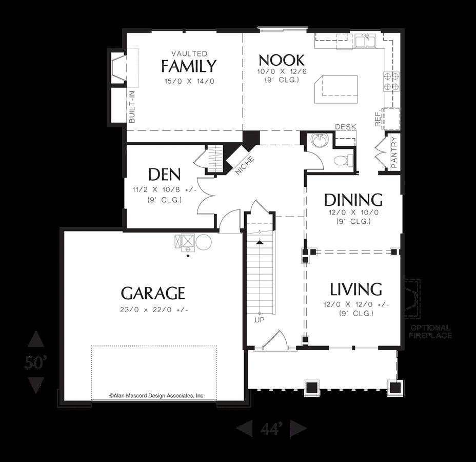 Mascord House Plan 2218e The Fulton