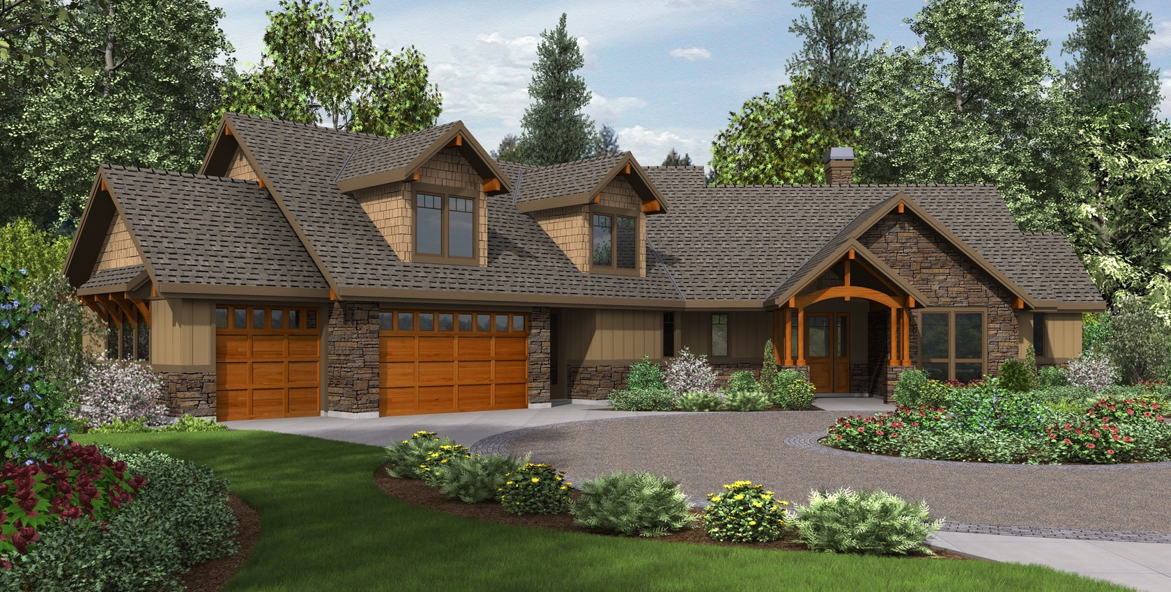 Mascord house plan 22190 the silverton for Pacific home designs