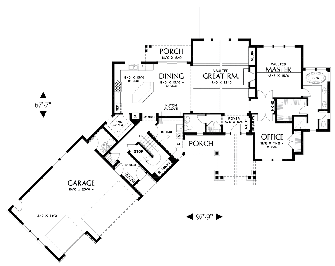 Image for Silverton-Beautiful NW Ranch Style Home-Main Floor Plan