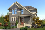Front Rendering of Mascord House Plan 22192 - The Roundhay