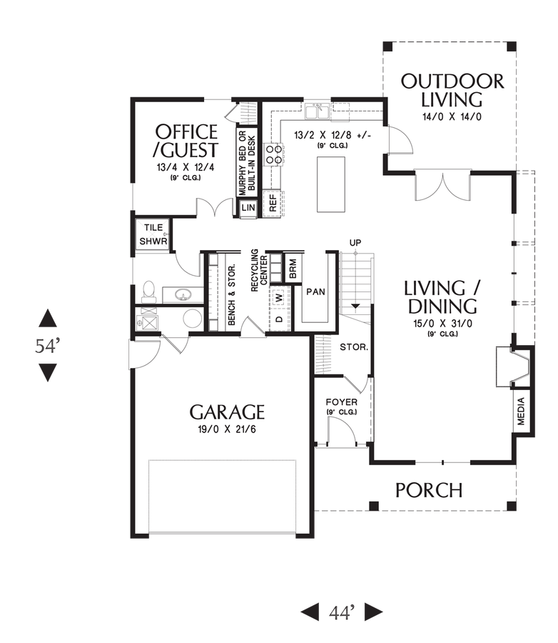 Image for Forest Park-Beautiful Design for Life in the City or Country-Main Floor Plan