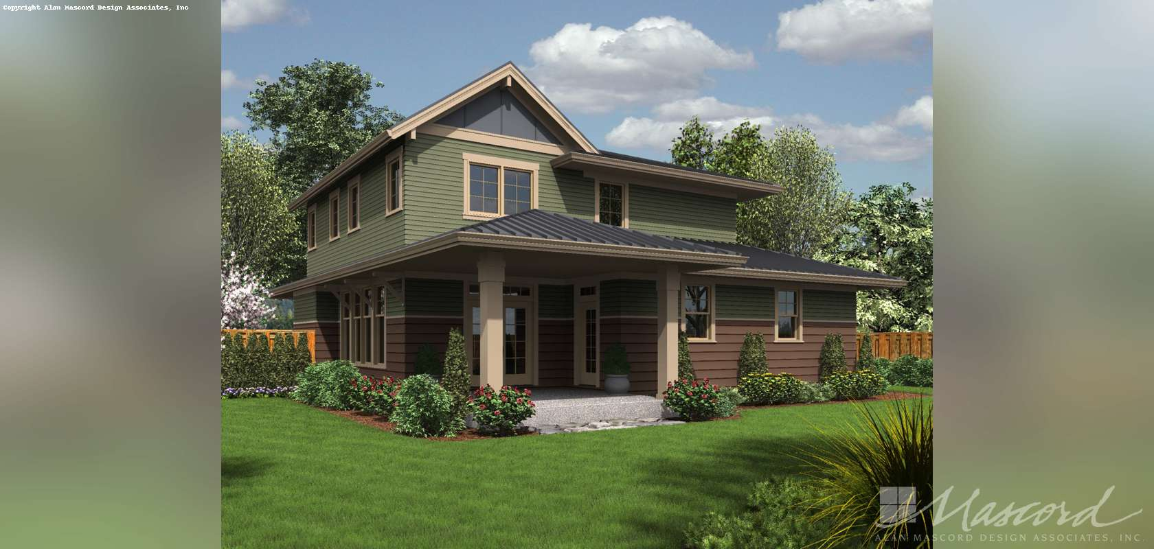 Mascord House Plan 22193ES: The Forest Park