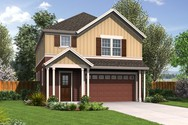 Front Rendering of Mascord House Plan 22195 - The Melville