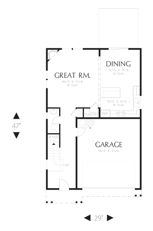 Image for Melville-Small Footprint, Large Spacious Family Plan-Main Floor Plan