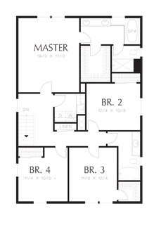 Image for Melville-Small Footprint, Large Spacious Family Plan-Upper Floor Plan