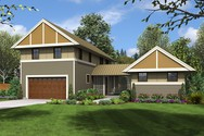 Front Rendering of Mascord House Plan 22196 - The Somerset