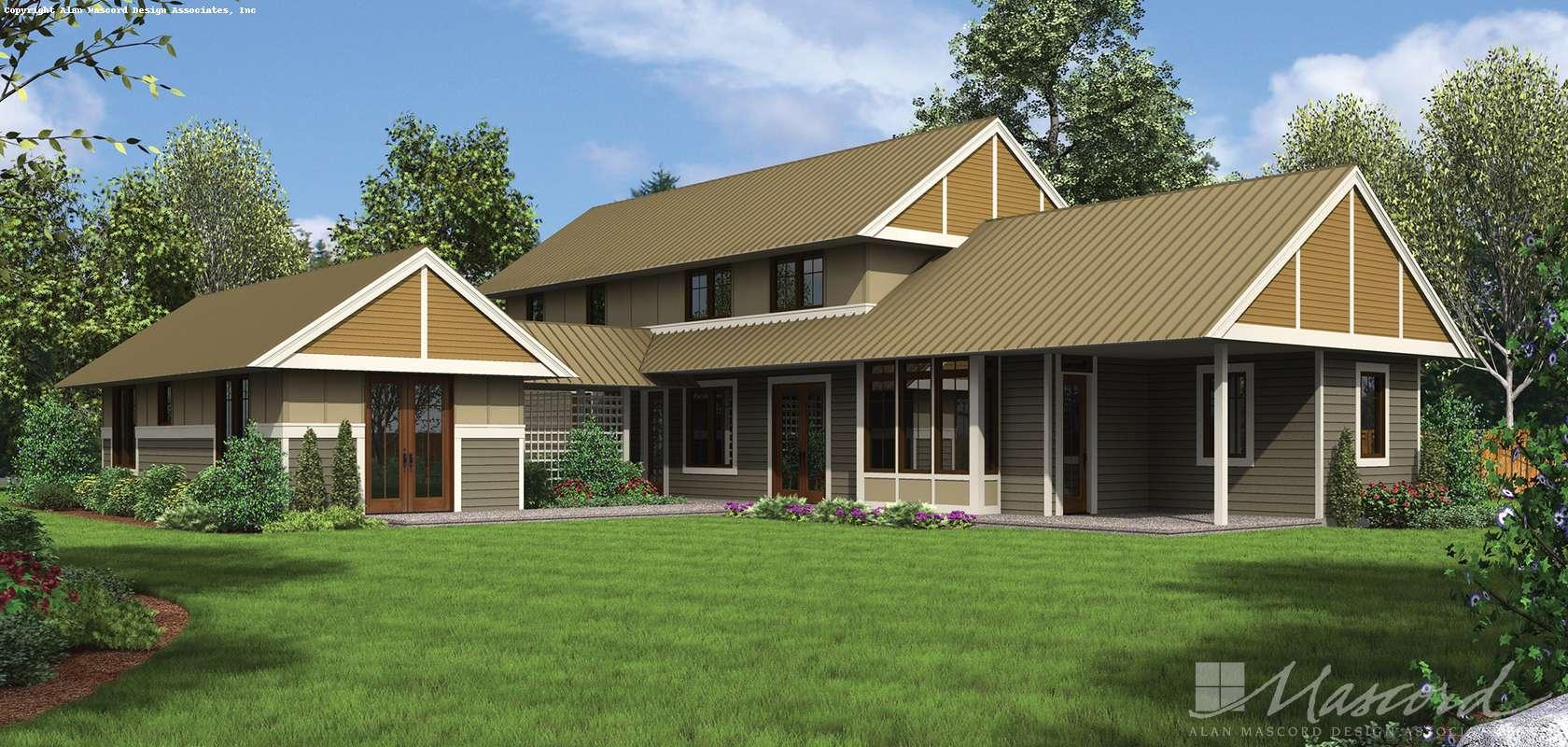 Mascord House Plan 22196: The Summerset