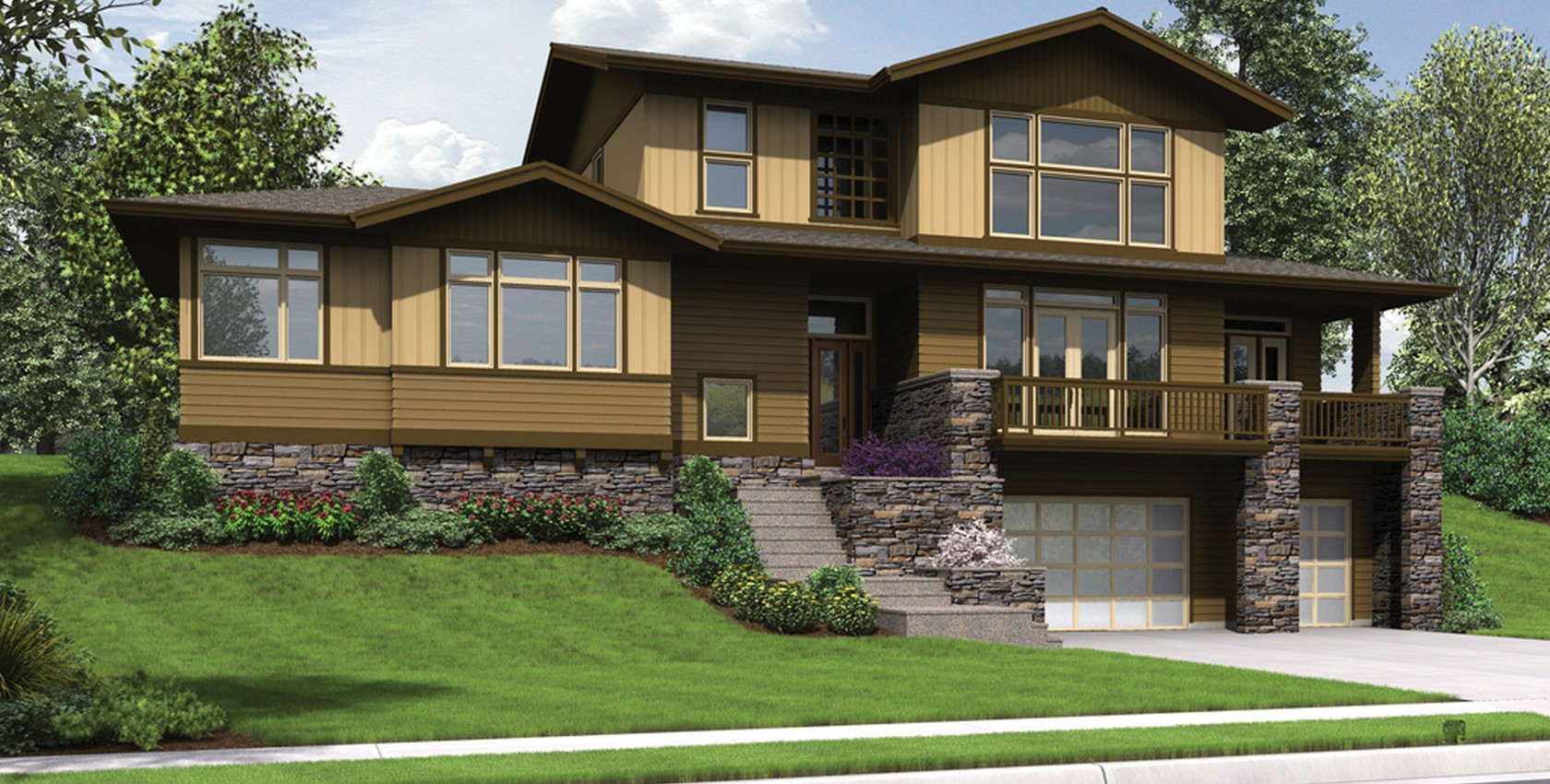 Image for Renicker-Delightful Craftsman for Uphill Sloping Lots-6016