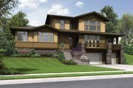 Front Rendering of Mascord House Plan 22197 - The Renicker