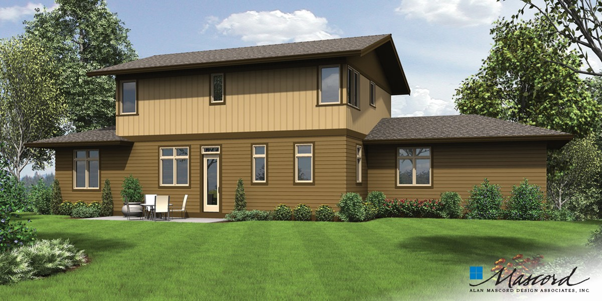 Image for Renicker-Delightful Craftsman for Uphill Sloping Lots-Rear Rendering